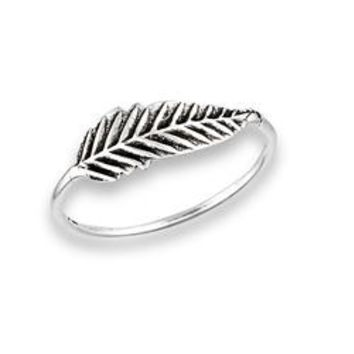 Sterling Silver Feather Ring