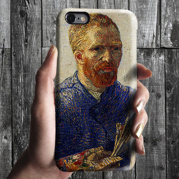 Selfportrait 4 - Van Gogh iPhone Case 6, 6S, 6 Plus, 4S, 5S. Mobile Phone Cell. Art Painting. Gift Idea. Anniversary. Gift for him and her