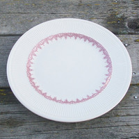 Vintage Shenango China Dinner Plate Restaurant Ware Red