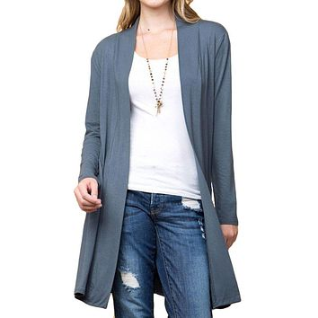 Women's Solid Printed Open Front Cardigans for Regular Plus - Small ~ 3XL