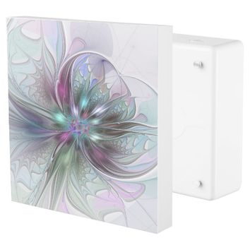 Colorful Fantasy, abstract and modern Fractal Art Outlet Cover
