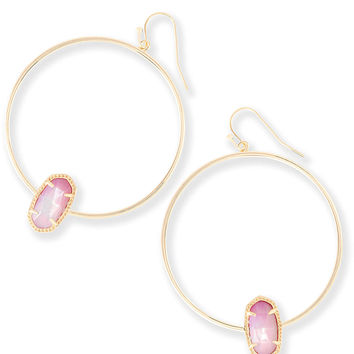 Elora Hoop Earrings in Blush Pearl | Kendra Scott Jewelry