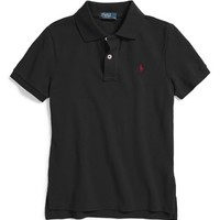 Boy's Ralph Lauren Cotton Mesh Polo