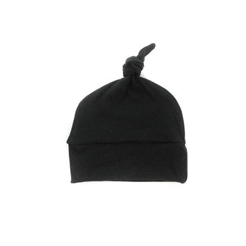 Baby Knotted Hat in Black