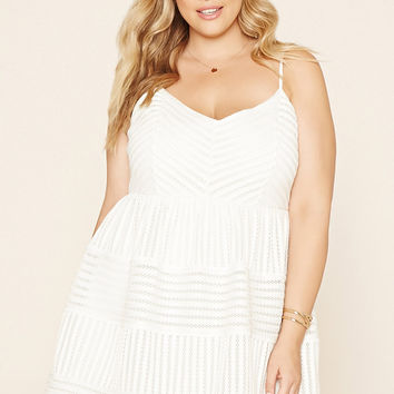 Plus Size Textured Cami Dress