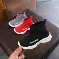 Kids Shoes For Girl Boys / Kids Shoes Mesh Breathable / 2018 Kids Sneakers Breathable Solid Ankle Boots For Children Shoes