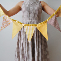 Bunting. Honey bunting.  Sunny days. Wedding bunting. Photo-booth bunting. Flag banner.