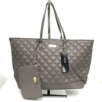 BCBG Paris Quilted Faux Leather Tote with Detachable Mini Coin Purse MSRP $ 198