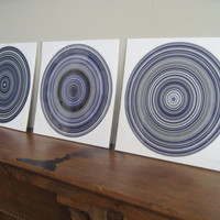 Particle Rings Purple 1p Limited Edition Giclee Print by Generative Artist Kristin Henry