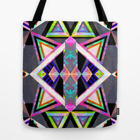 Hana Geomtric II Tote Bag by Schatzi Brown
