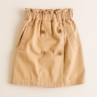 Girls' trench skirt