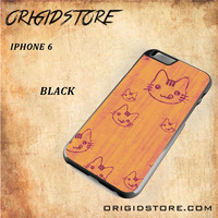 Wood Greedy Hello Kitty For Iphone 6 Case - Gift Present Multiple Choice