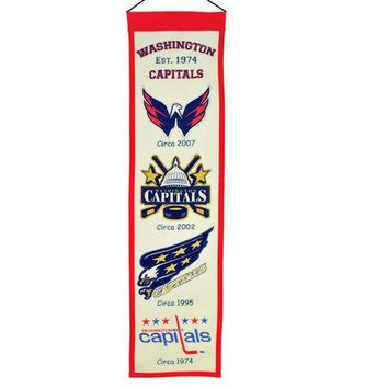 "Washington Capitals NHL Embroidered Wool Heritage 32"" Banner Pennant"