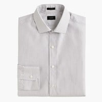 Ludlow Shirt In Charcoal-Striped End-On-End Cotton : Men's Shirts | J.Crew