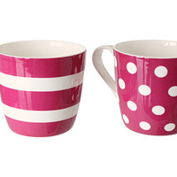 Waechtersbach Konitz by Waechtersbach - Set of 2 - Mugs Dots and Stripes
