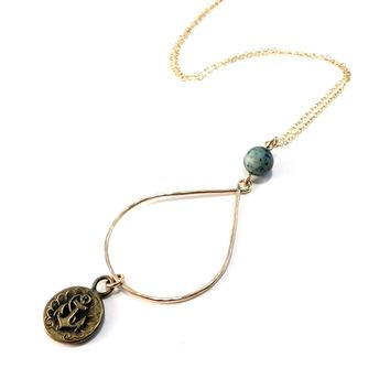 ANCHOR - Teardrop Necklace - BRONZE