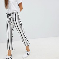Nobody's Child Kick Flare Pants In Stripe at asos.com