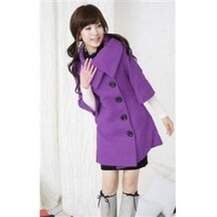 Wholesale Half Sleeve Long Purple Coat