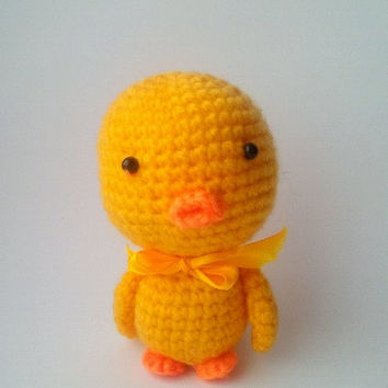 Cute Duck. Duck Pattern. PDF file amigurumi crochet pattern. DIY handmade toy.