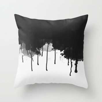 Spilled Ink Throw Pillow by All Is One