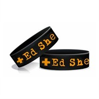 Ed Sheeran Plus Rubber Wristband (Black). Buy online, http://www.edsheeran.com/