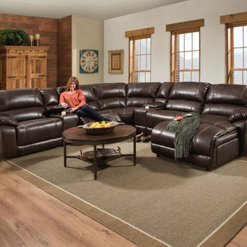Corinthian Faulkner Chocolate Chaise Sectional
