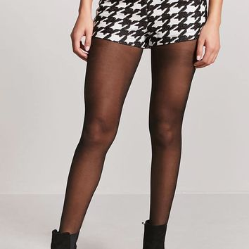 Woven Houndstooth Shorts