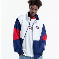 """ Tommy Hilfiger "" Women Men Fashion Zipper Cardigan Sweatshirt Jacket Coat Windbreaker Sportswear"