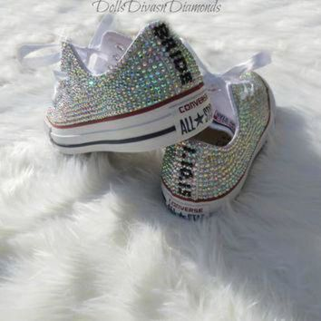 CREYON bride and wedding date all over crystal converse custom hand made  crystal converse ea7fbff3c