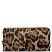 Michael Michael Kors Jet Set Hair Calf Continental Wallet
