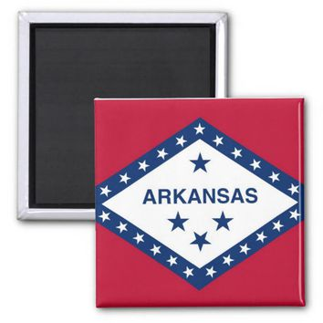Magnet with Flag of Arkansas State - USA