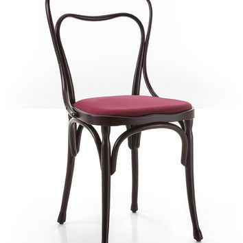 Adolf Loos Cafe Museum Bentwood Side Chair (Upholstered) by GTV
