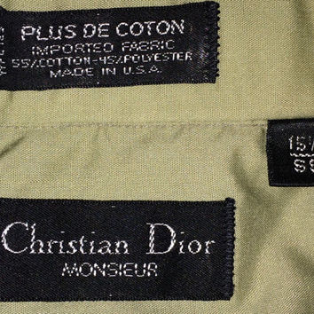 c6e250088fa5 Vintage CHRISTIAN DIOR Monsieur button downs cotton polyester oxfords shirt  Made in USA