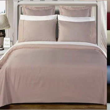 Duvet cover set 550 Thread count Solid Egyptian cotton