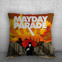 Mayday Parade A Lesson In Romantics Album Pillow, Pillow Case, Pillow Cover, 16 x 16 Inch One Side, 16 x 16 Inch Two Side, 18 x 18 Inch One Side, 18 x 18 Inch Two Side, 20 x 20 Inch One Side, 20 x 20 Inch Two Side