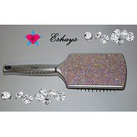 Crystal AB Rhinestone Paddle Hair Brush