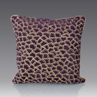 Jay Strongwater Scallop Pattern Pillow