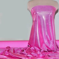 MYSTIQUE SPANDEX FABRIC STRETCH BUBBLEGUM/BABY PINK LEOTARDS, DANCE, PAGEANT