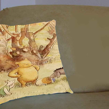 winnie the pooh vintage - Pillow Case, Pillow Cover, Custom Pillow Case **