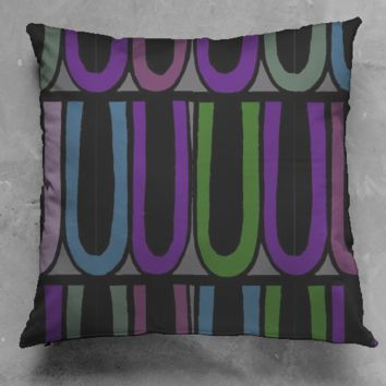 Circus Trim Dark Pillow