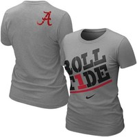Nike Alabama Crimson Tide Women's Roll Tide Local T-Shirt - Ash