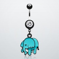 Super Cute Elephant Belly Button Ring