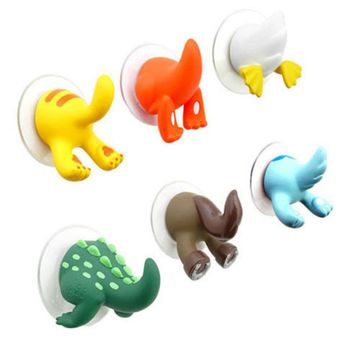 Cartoon Useful Animal Tail Safe Sucker Holder Novelty Wall Hook Towel Key Hanger bathroom wall hooks gancho de parede 1PCS