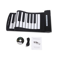 Portable 61 Keys Flexible Roll-Up Piano USB MIDI Electronic Keyboard Hand Roll Piano