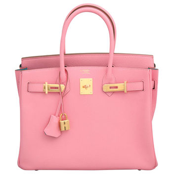 "Hermes Rose Confetti Pink ""Special Order"" Chevre Birkin with Horseshoe Stamp"