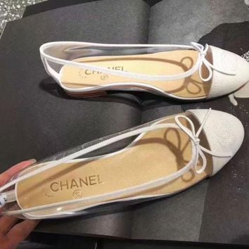 Chanel Women Men Sandals Transparent shoes jelly shoes B-ALS-XZ White