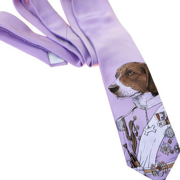 Men's Necktie - Regal Beagle Men's Tie - Men's Dog Necktie