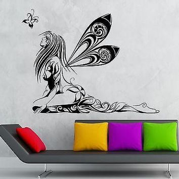 Wall Sticker Vinyl Decal Fairy Beautiful Girl Modern Room Decor Nursery Unique Gift (ig2218)