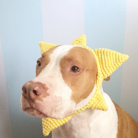 Dog Sunshine Hat - Crochet Dog Headband - Dog Sun Costume - Dog Halloween Costume - Funny Dog Hat - Crochet Dog Clothes - Pet Costumes