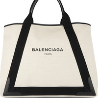 Balenciaga - Leather-trimmed canvas tote